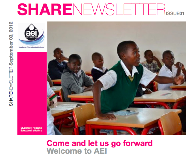 Share Newsletter Issue 01 September 2012