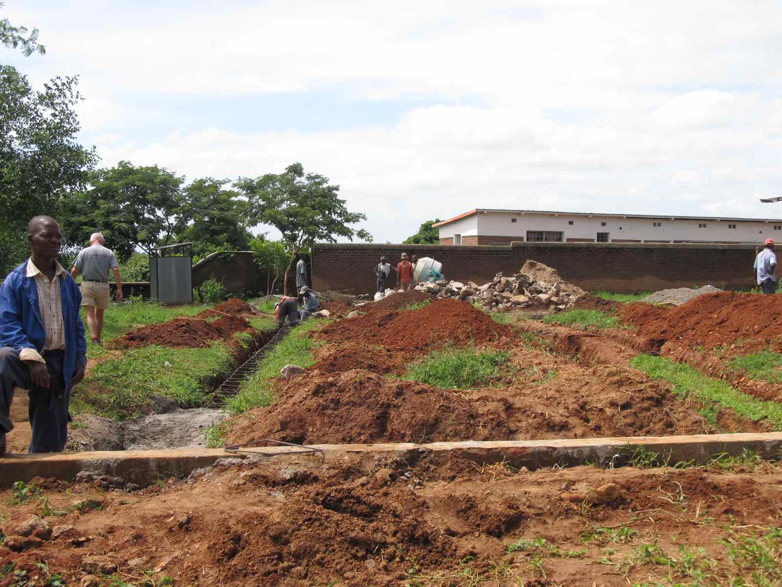 The site where the hostel is being built