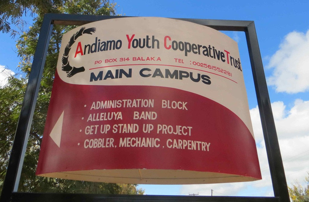 The Sign Post indicating what is inside AYCT campus