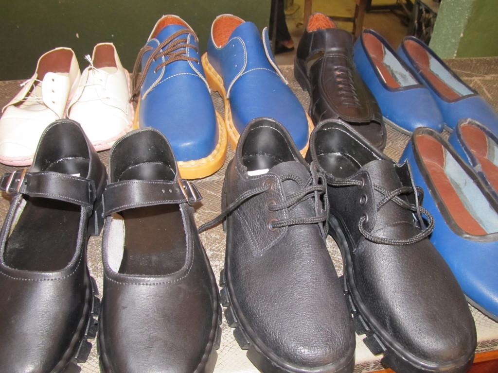 Variety of shoes Chimwemwe Mwenyemasi can make