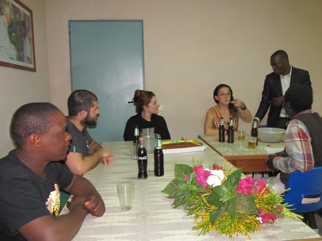 Mr. A. Galeta uttering his speech at dinner