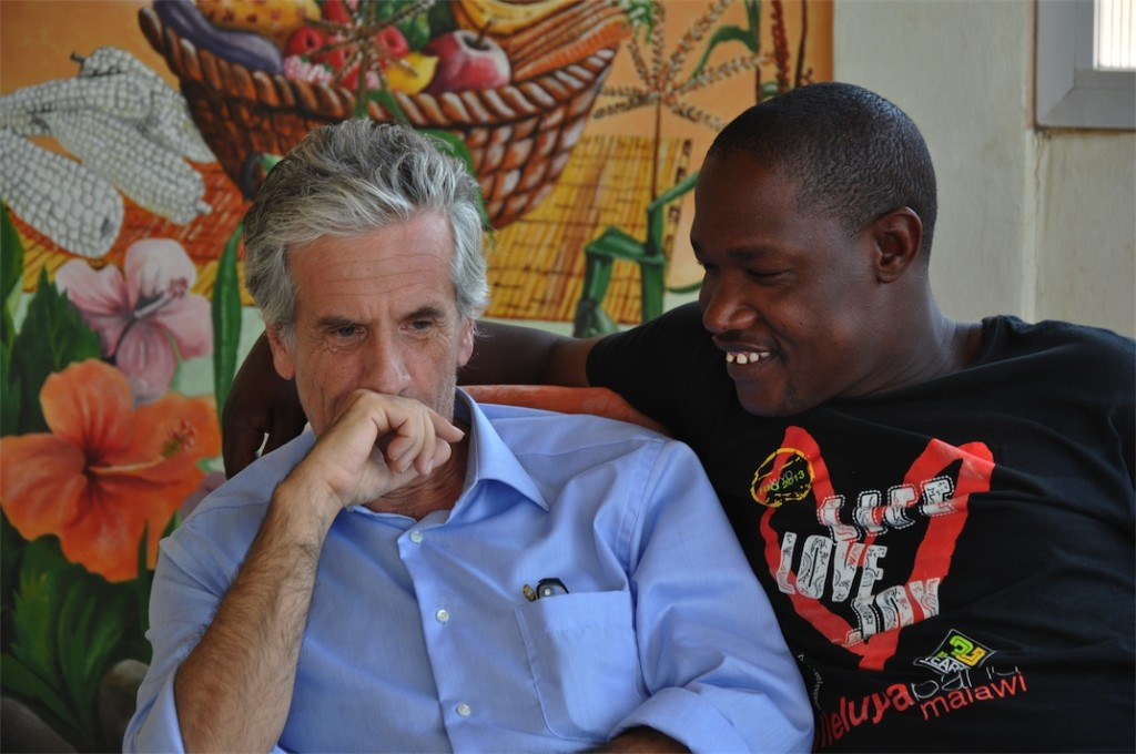 Dr. Mauro and Kantema during the interview