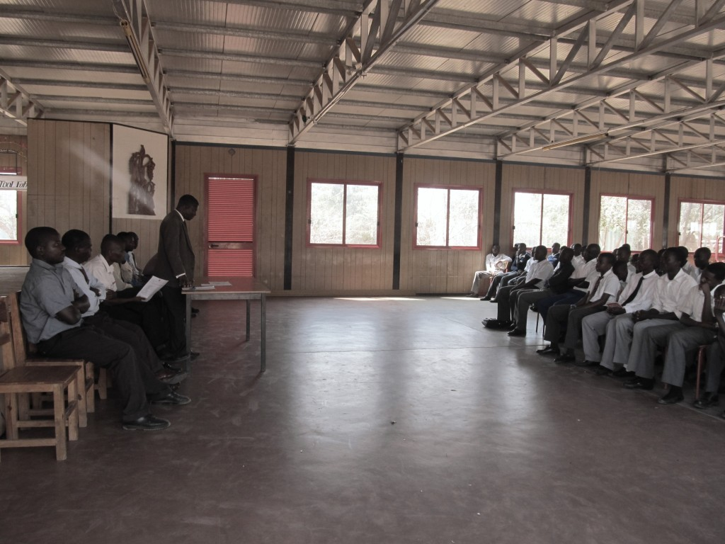 Mr. Banda addressing the students during the general assembly