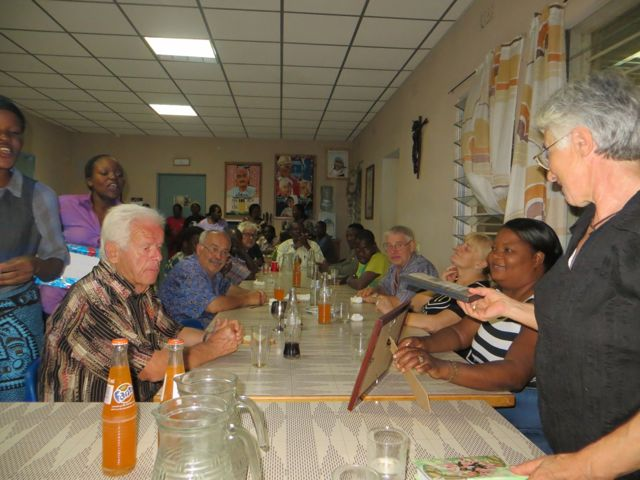 A cross section of people at the dinner