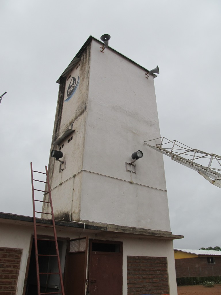 Alar4m clock installed at the water tank