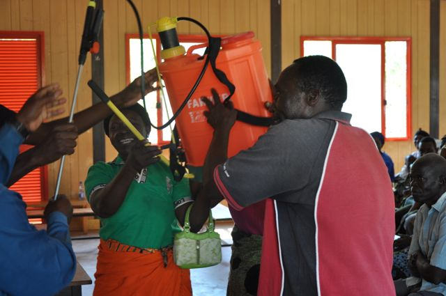 Farmers getting their sprayer