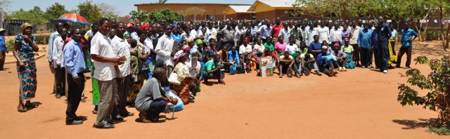 Farmers who attended the indaba