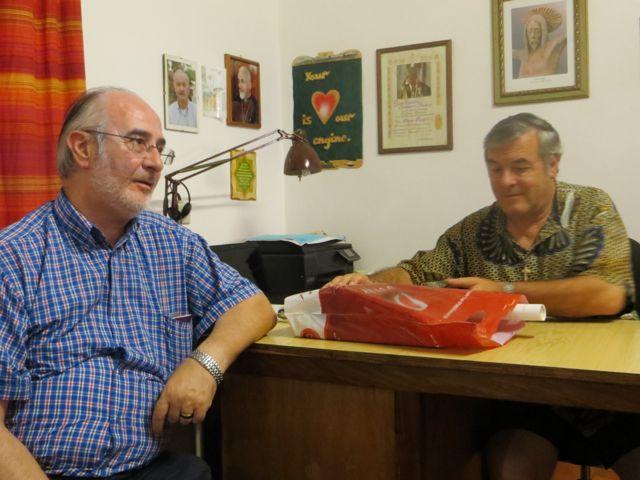 Fr. Angelo Epis meeting Fr. Mario Pacifici