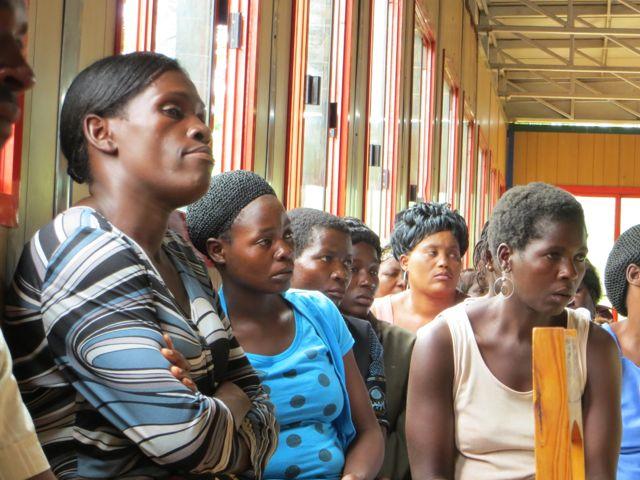 Women from Andiamo were also present