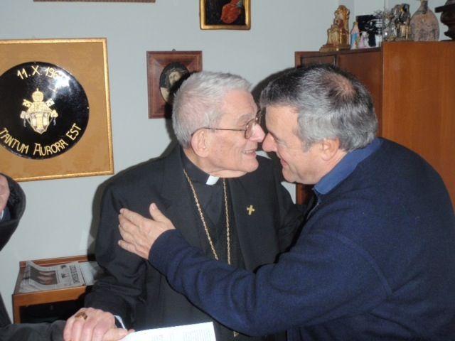 Fr. Mario with Cardinal Capovilla