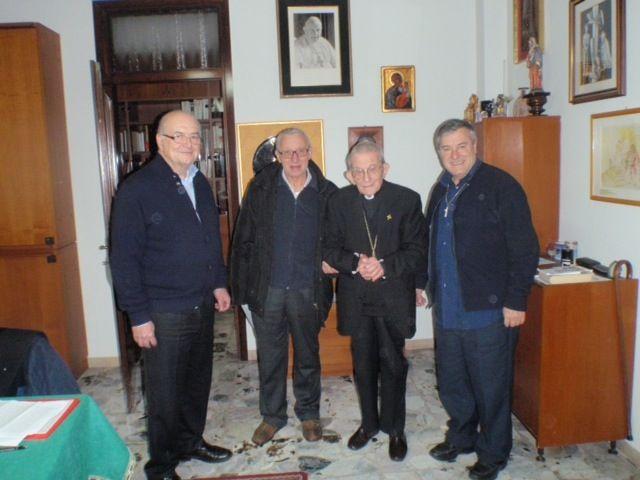 From Left: Dr. Annibale Casati, Don Paolo Pacifici, Cardinal Loris Capovilla & Fr. Mario Pacifici