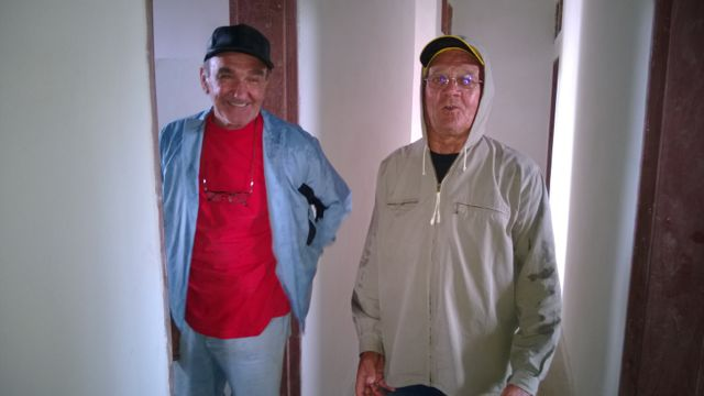 Beppe and Franco, the two volunteers working hard for  the community