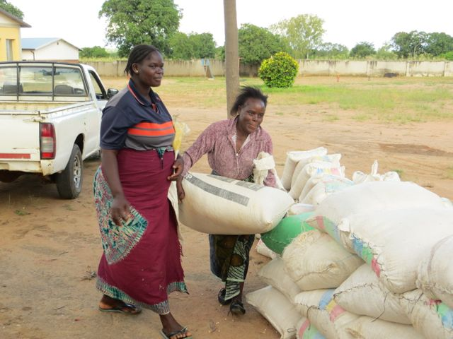 A lady beneficiary