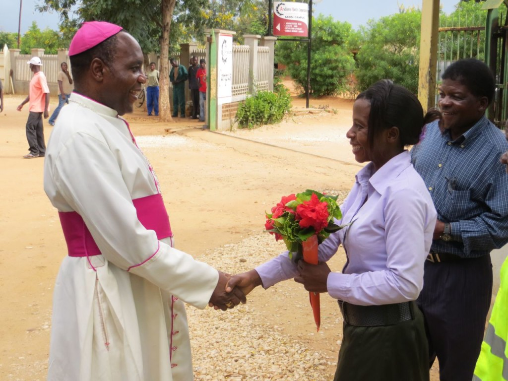 Arrival of Bishop Stima at AYCT