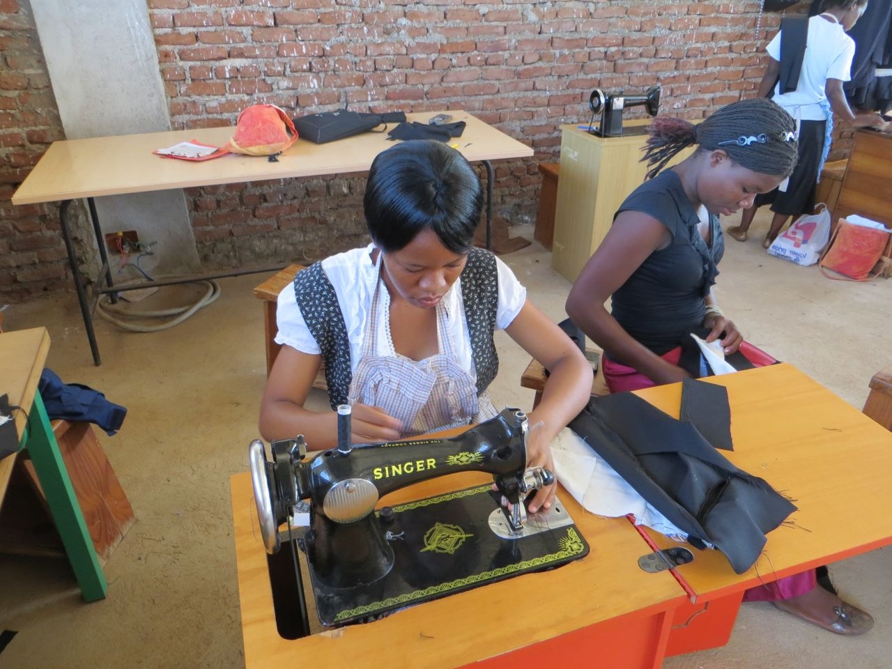Tailoring and Designing students of Andiamo Technical College learning new skills