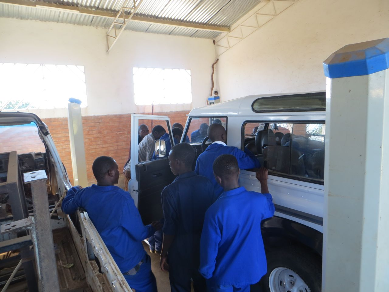 Motor Vehicle Mechanics students learning the tricks