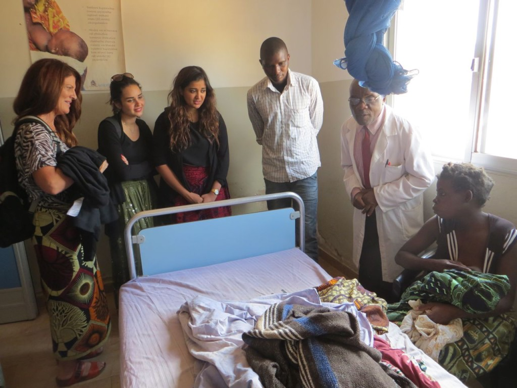 Dr. Mwale briefing the visiting team