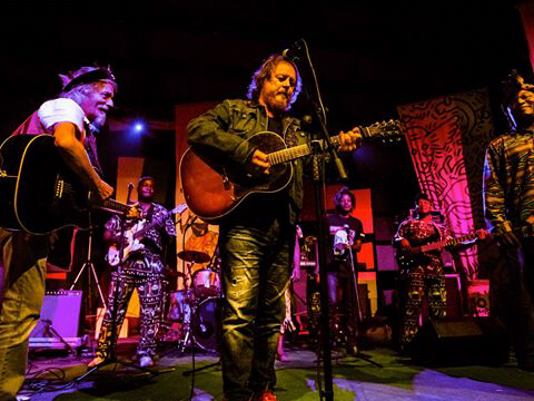 Alleluya Band sharing stage with Italian star Zucchero sugar Fornaciari