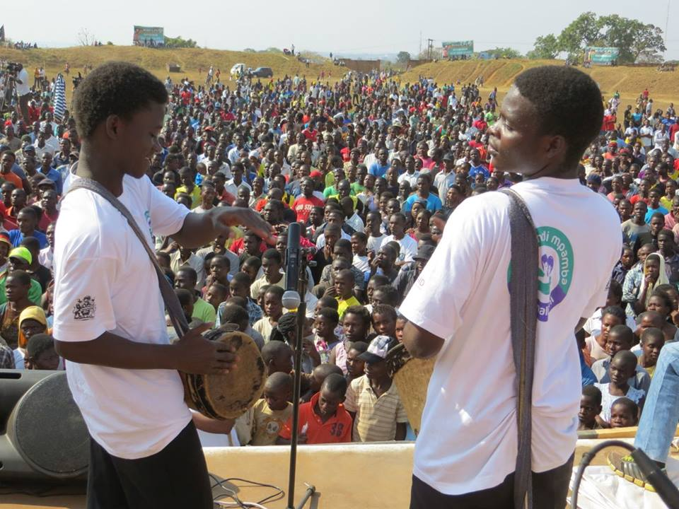 Andiamo Music School Band performing in Lilongwe
