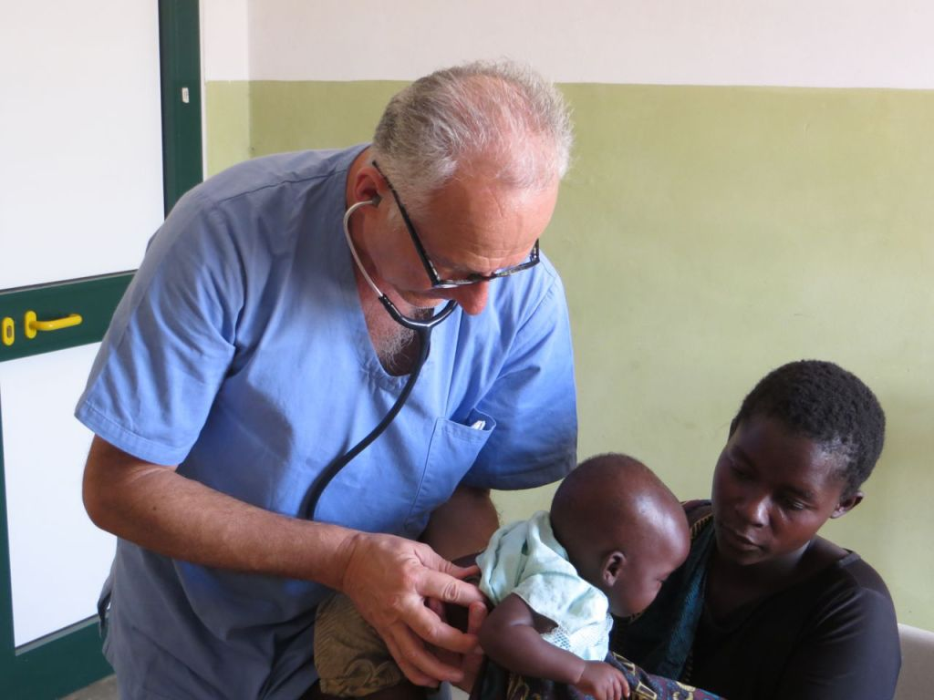 Dr. Gabriele,volunteering at CCH in 2014