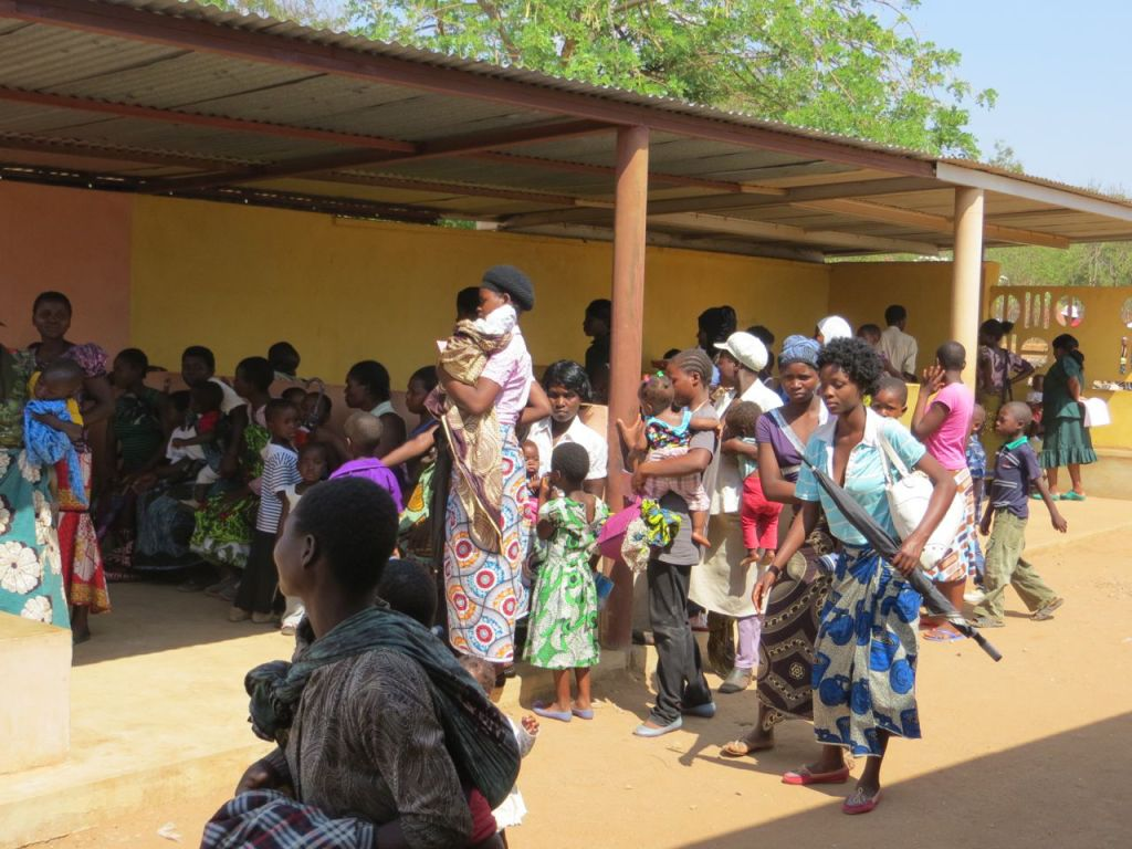 People waiting to receive treatment at CCH
