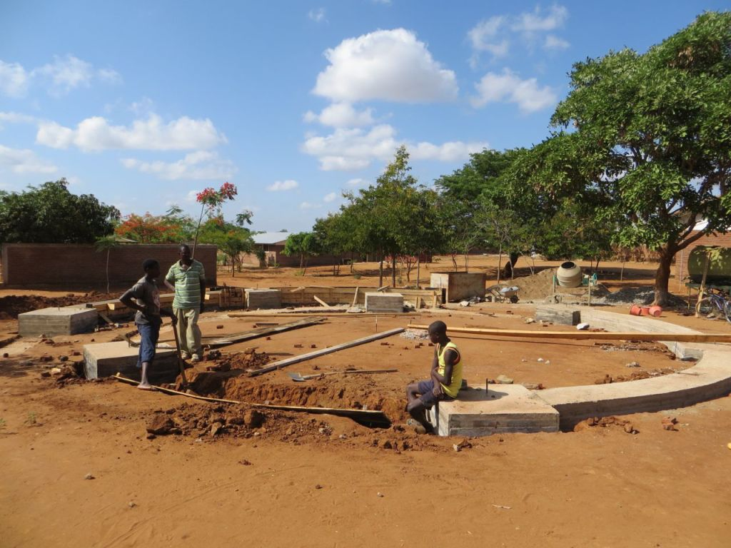 Finalising the foundation of Andrea Woyera Chapel
