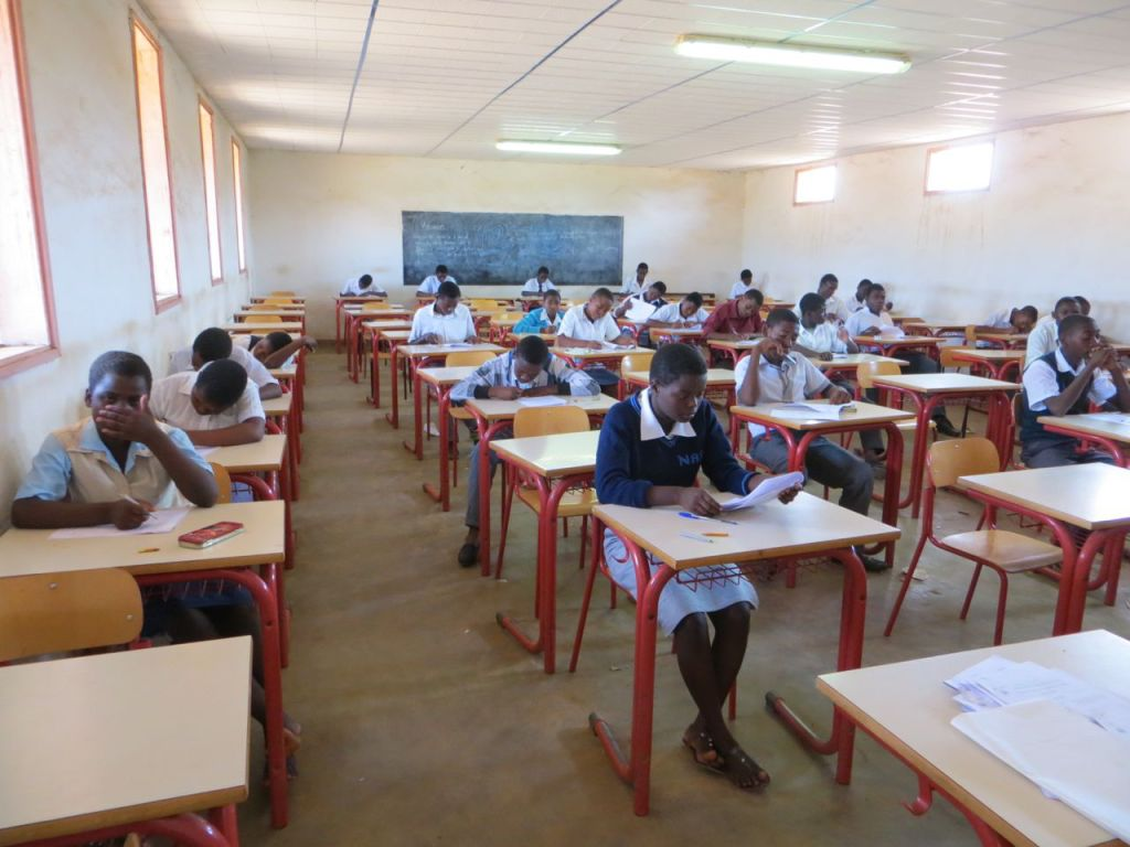 Examinations time at Andiamo Secondary School